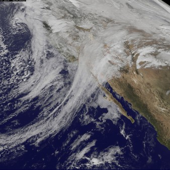 The jet stream over America