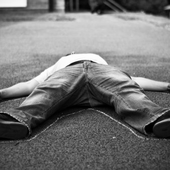 man lying on the ground